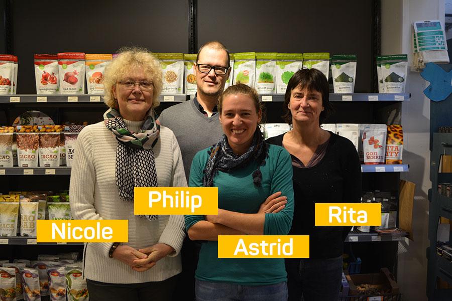 Nicole, Philip, Astrid en Rita